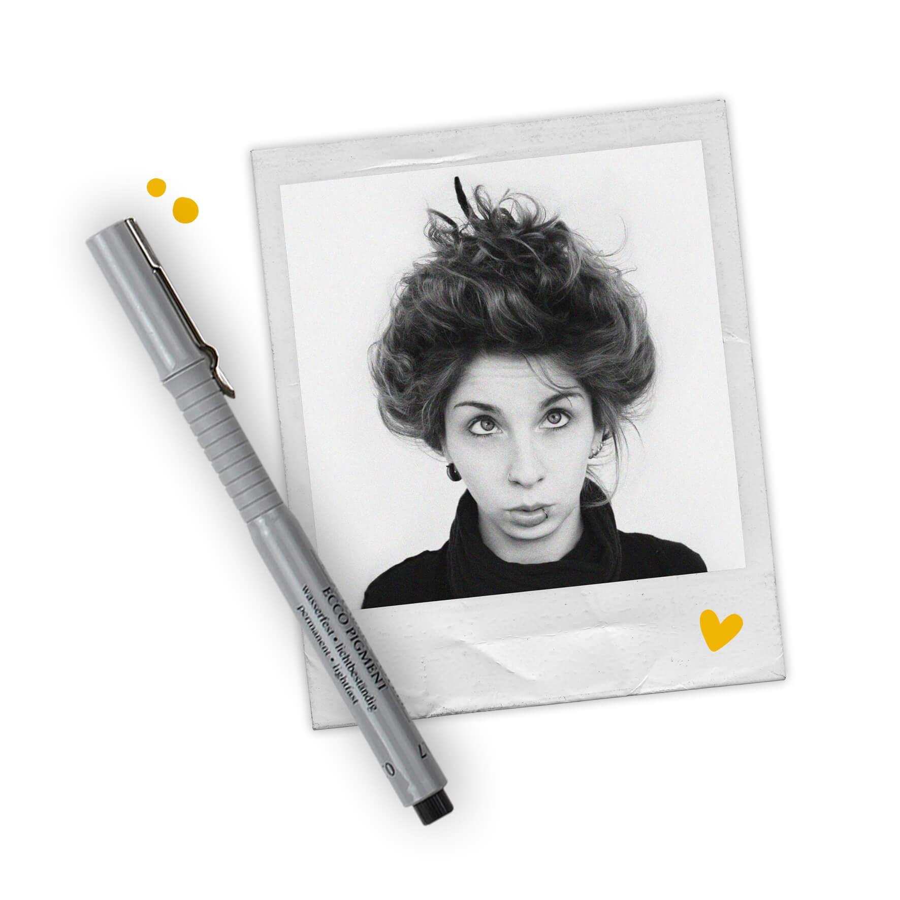 Bild von einem Polaroid-Foto