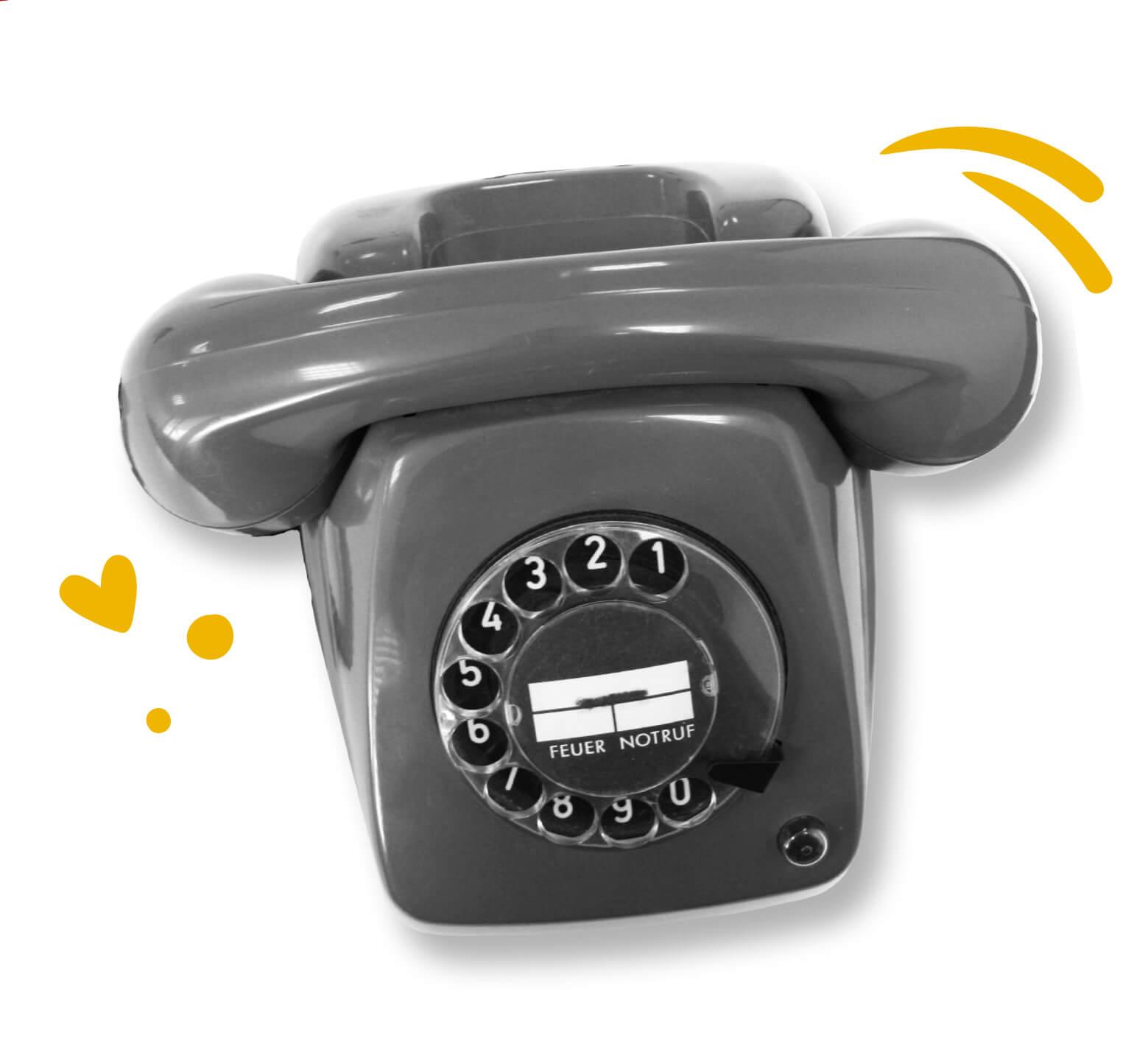 Bild eines Wählscheibentelefons